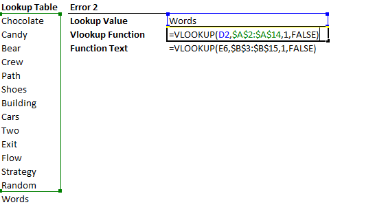 Vlookup not selecting the entire lookup table