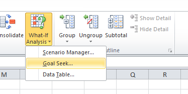 Goal Seek in Excel